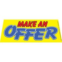 Make An Offer windshield banner