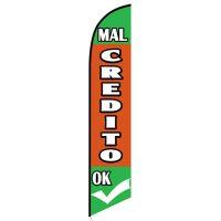 Mal Credito Okay feather flag