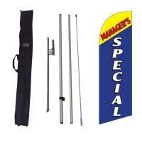Managers Special Feather Flag Kit w/ Ground Stake and Travel Bag