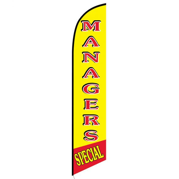 Managers Special feather flag
