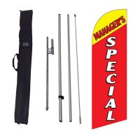 Managers Special Flag Kit w/ Ground Stake and Travel Bag