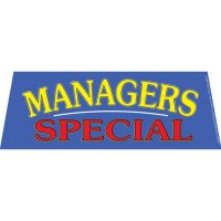 Managers Special windshield banner