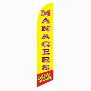 Managers Special feather flag to use outside your storage facility