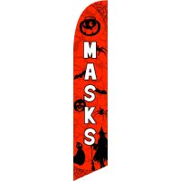 Masks Feather Flag Kit with Ground Stake