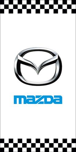 Used Mazda dealership light pole banner