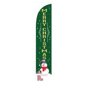 Green Merry Christmas feather flag is perfect for your outdoor décor