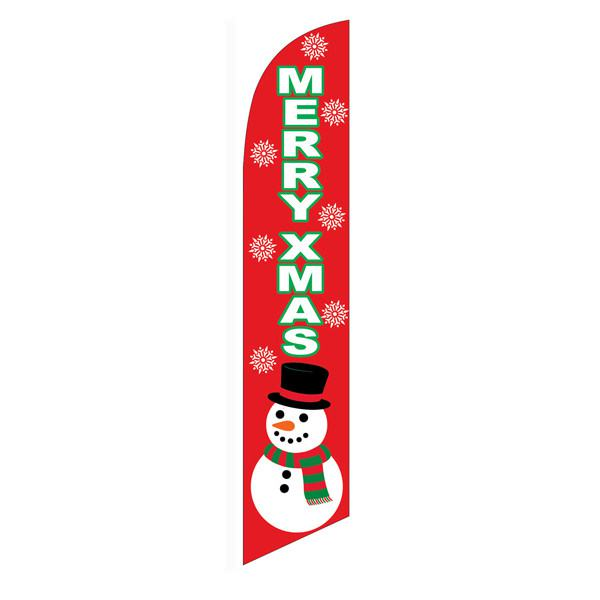 Show your spirit by usiing this Merry Xmas feather flag outside your location