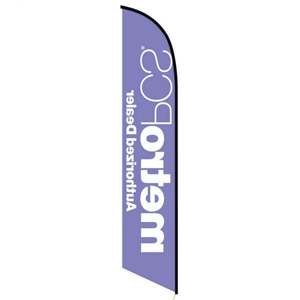 MetroPCS Authorized Dealer purple Feather Flag