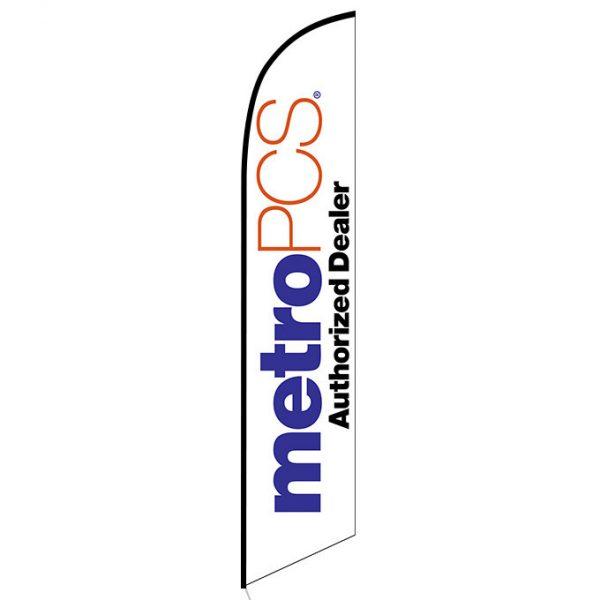 MetroPCS Authorized Dealer white Feather Flag