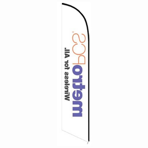 MetroPCS Wireless for All white Banner Flag