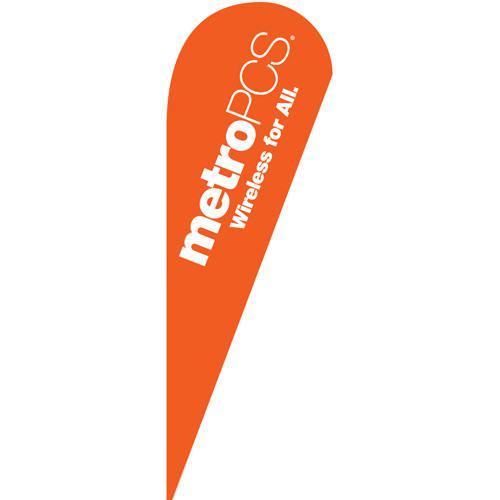 Metropcs Wireless Teardrop Flag