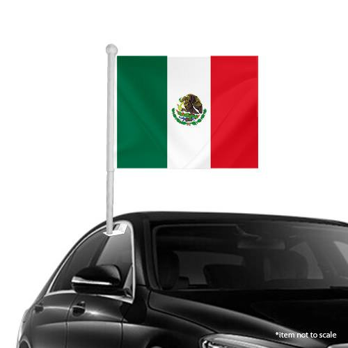 Mexican Window Clip on Flag