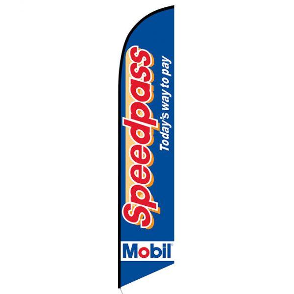 Mobil Speedpass feather flag