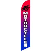 Motorcycles Feather Flag Kit with Ground Stake
