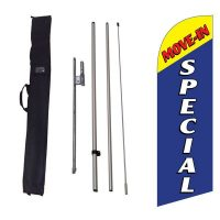 Move-in Special Blue Flag Kit w/ Ground Stake and Travel Bag