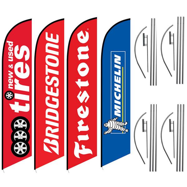 NEW-USED-TIRES-BRIDGESTONE-FIRESTONE-MICHELIN-GREAT-FLAG-DEAL-FOR-TIRE-SHOP