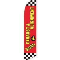 Quality Exhaust and Alignment Feather Flag