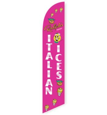 Italian Ices (Pink) Feather Flag