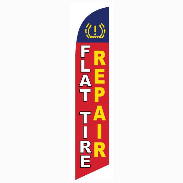 Bring more customers to your shop with this Flat Tire Repair feather flag