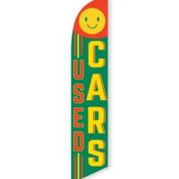 Used Cars (Smile) Feather Flag