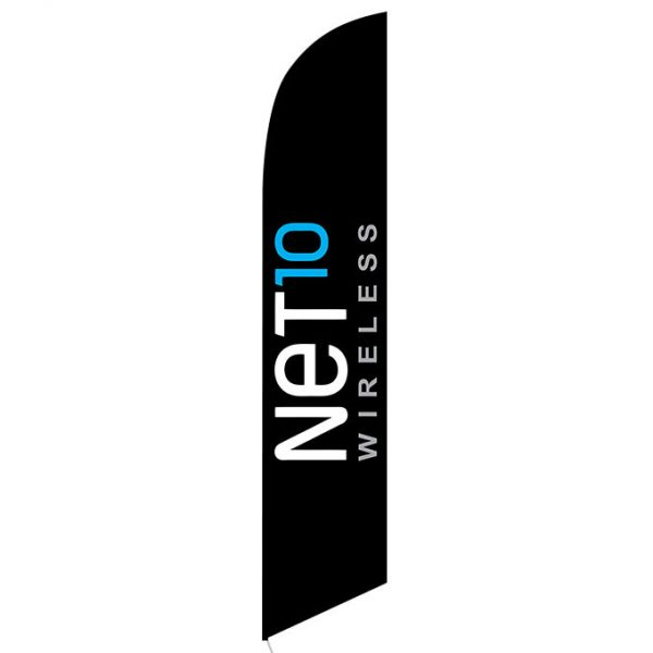 Net10 Wireless black Feather Flag