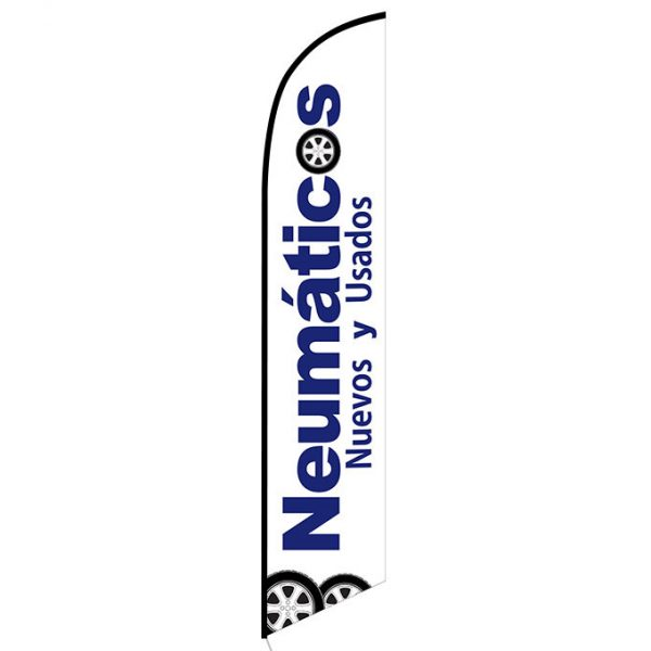 Neumaticos Nuevos y Usados feather flag