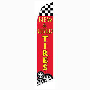 Increase your sales with this low cost New and Used Tires swooper flag