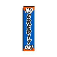 No Credit Ok rectangle flag