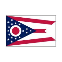 Ohio State 3×5 flag
