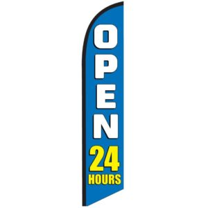 Open-24-hours-blue-feather-flag-banner-NSFB-5823
