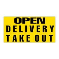 Open Delivery Take Out Vinyl Banner