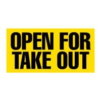 Open for Take Out Vinyl Banner