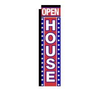 Open House Rectangle Banner Flag