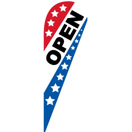 Open Patriotic Teardrop Flag