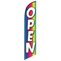 Open (rainbow) Feather Flag