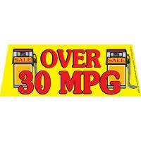 Over 30 MPG V2 windshield banner