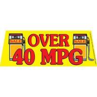 Over 40 MPG V2 windshield banner
