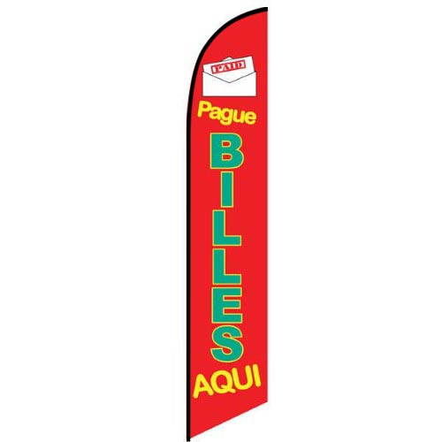Pague Billes Aqui feather flag