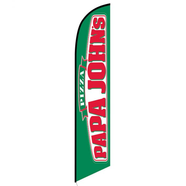 Papa Johns feather flag