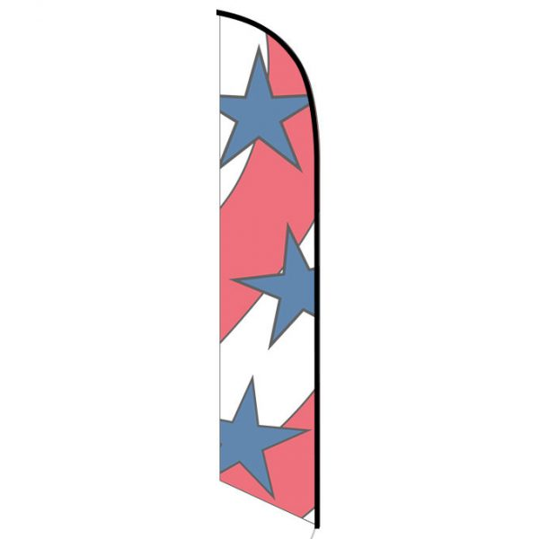 Patriotic decoration feather flag