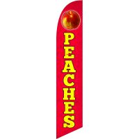 Peaches Feather Flag Kit with Ground Stake