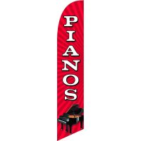 Pianos Feather Flag Kit with Ground Stake