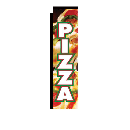 Pizza Rectangle Banner Flag