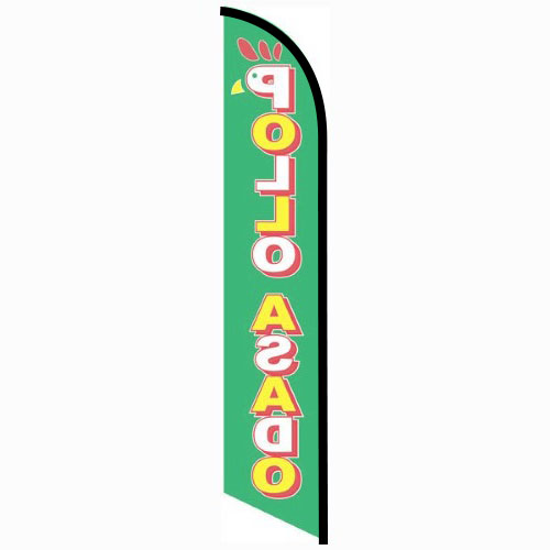 Pollo Asado feather flag