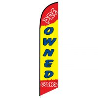 Pre-owned Cars feather flag