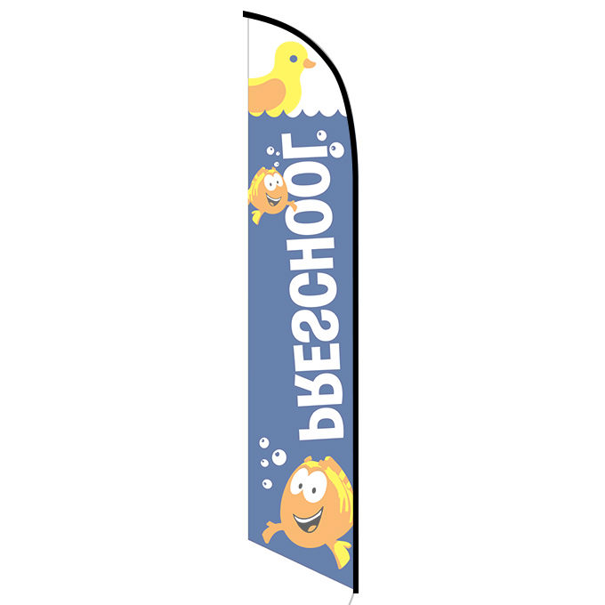 Preschool blue feather flag