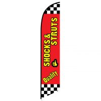 Quality Shocks Struts Feather Flag