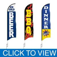 Restaurants & Food Feather Flags in Stock