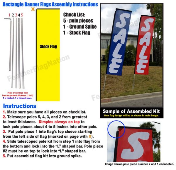 Self Storage yellow Rectangle Flag