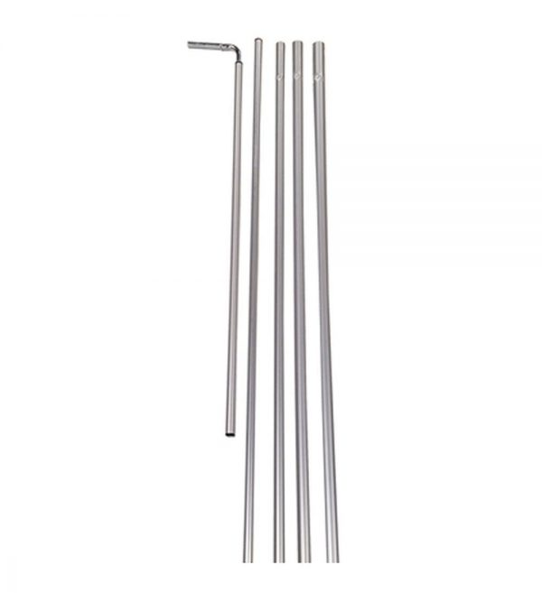 Rectangle Flag 5pc Aluminum Pole Kit